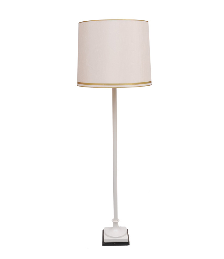 A tall and elegant porcelain floor lamp