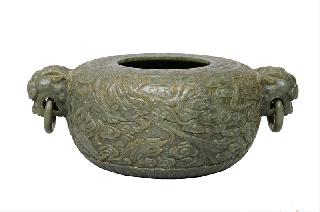 "A large ""Marriage Bowl"" with dragon relief"