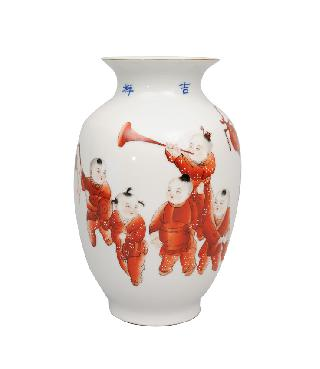 "A vase ""7 boys at the Lantern-festival"""