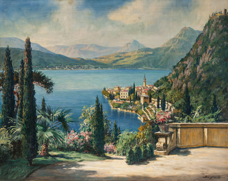 View on Varenna by Lake Como