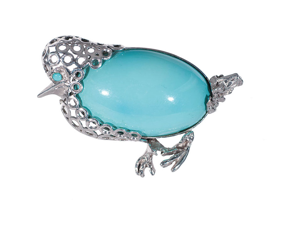 A turquoise brooch 'Small bird'