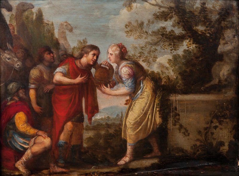Rebecca and Eliezer by the Well