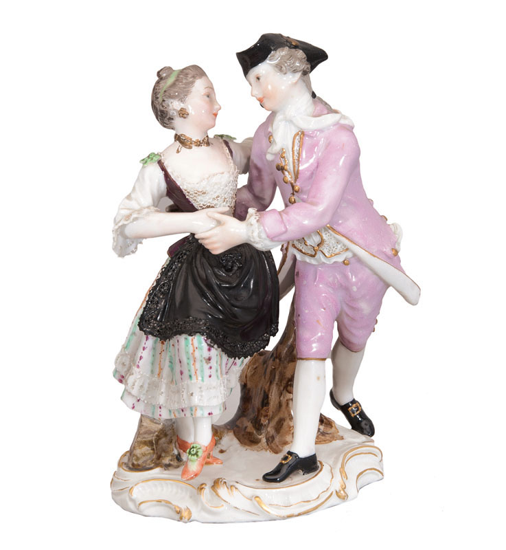 A figural group 'Dancing Couple'