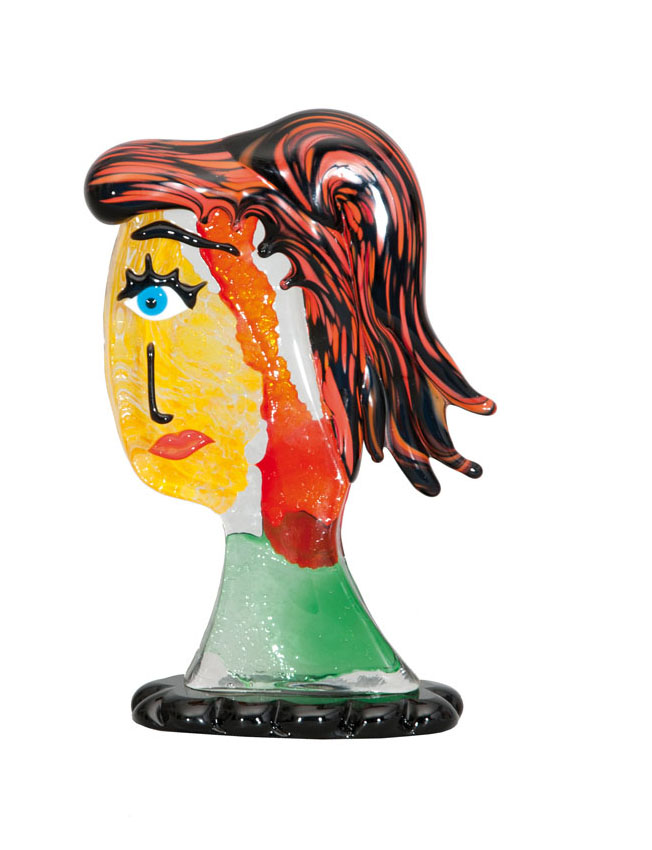A glass sculpture 'Face'