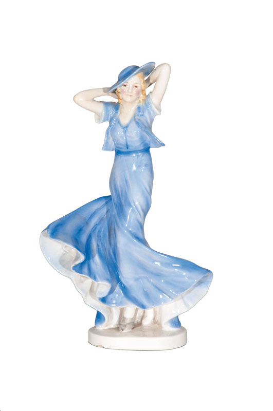 An Art Deco figure 'Lady with hat'