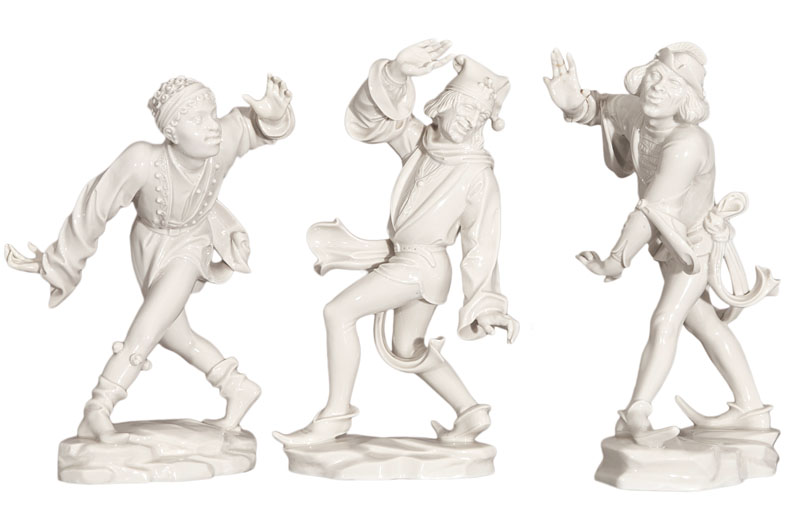 A rare set of 3 figures 'Morisco dancers'