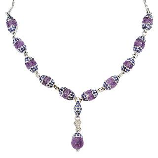 An extraordinary amethyst sapphire necklace in Art-Déco style