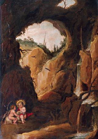 Christ with the Infant St. John in a Grotto