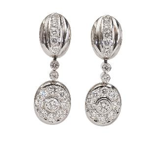 A pair of highquality diamond earpendants