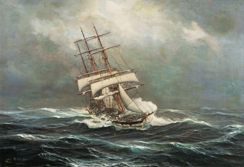 Tall Ship in a Storm