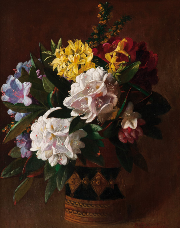 Vase with Rhododendrons