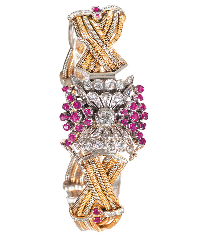 An Art-Déco bracelet with diamonds and rubies