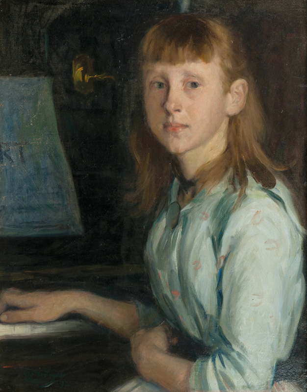 Marie Schumann at the Piano