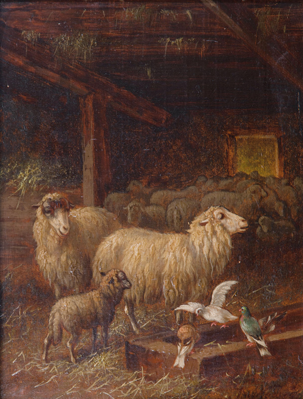 Companions Pieces: Sheep in a Stable