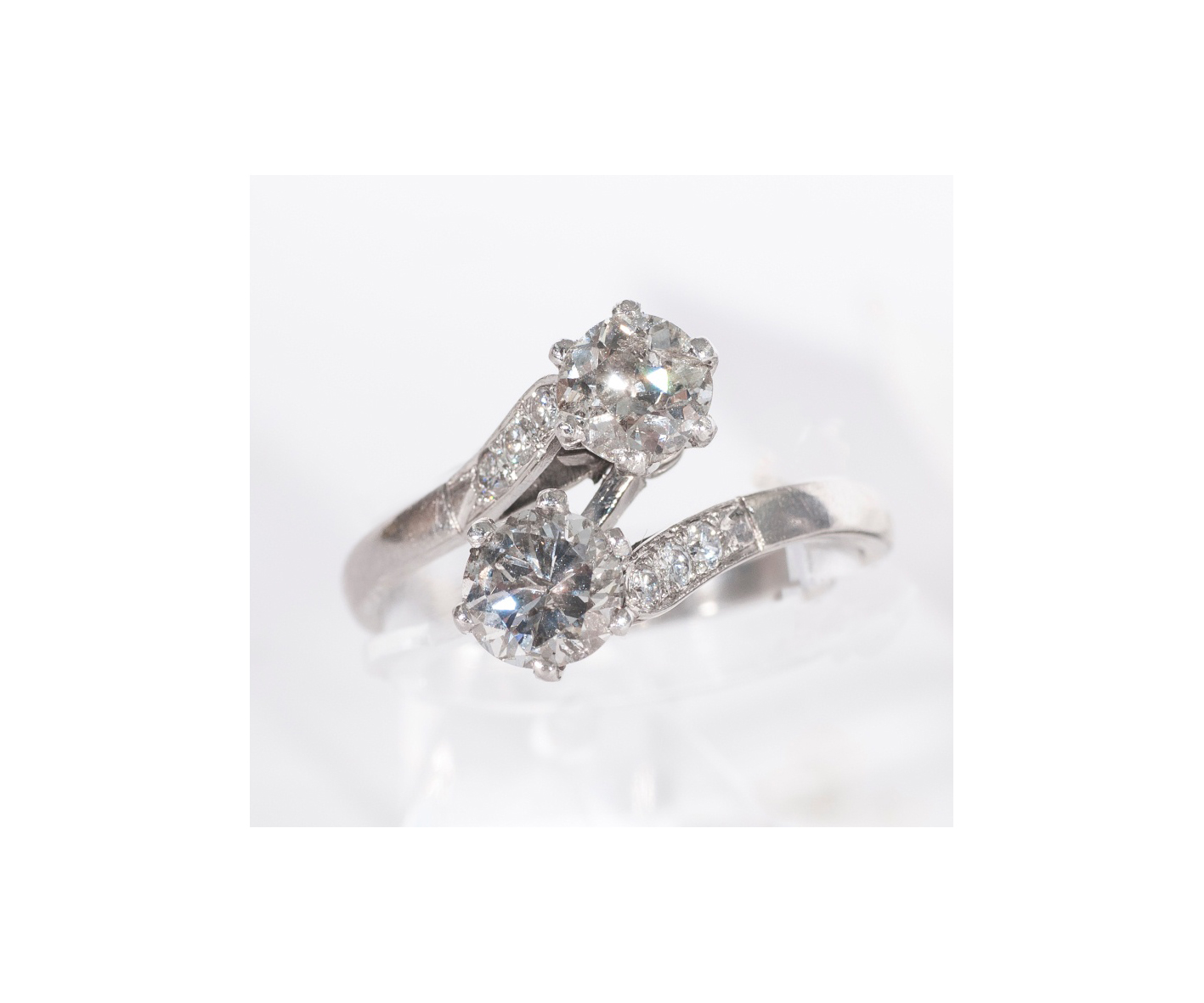 A petite diamond ring