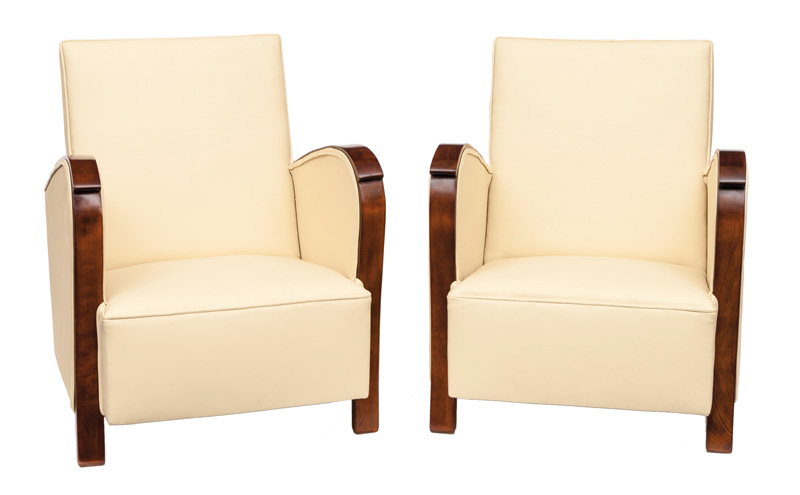 A pair of Art Deco chairs
