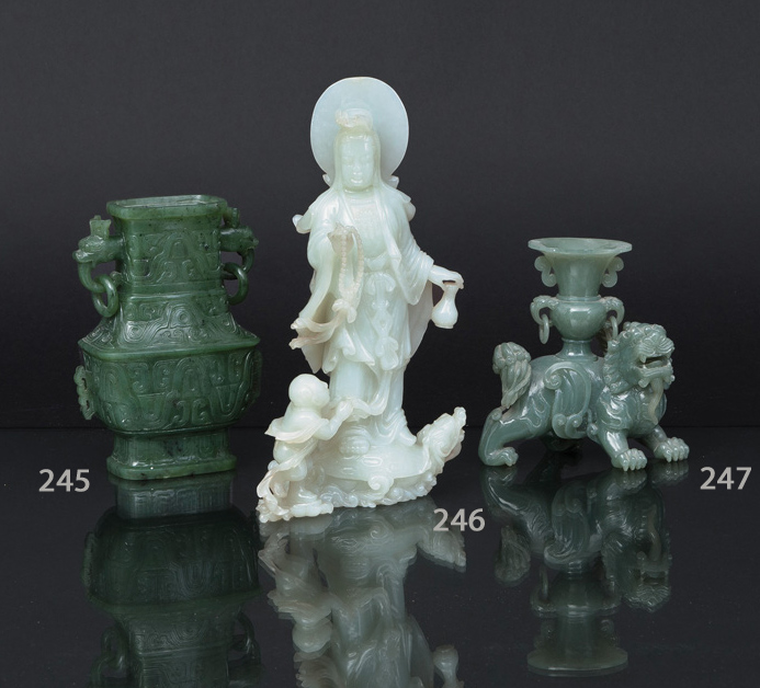 A fine jade carving in the shape of a Qilin