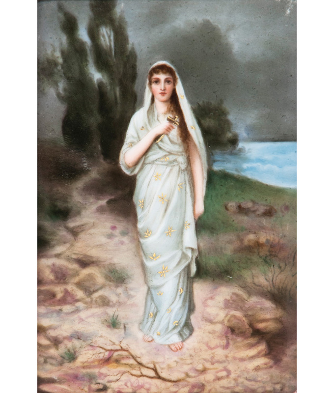A fine porcelain plaque 'Mary Magdalene'