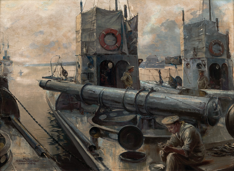 Torpedo Boat in the Harbour of Ostend