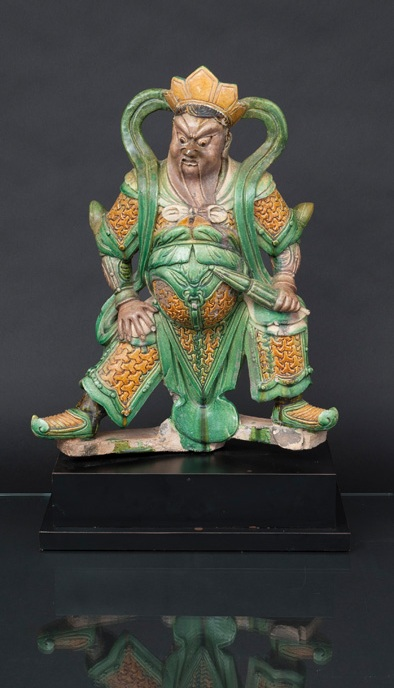 A tall Sancai figure 'Immortal'