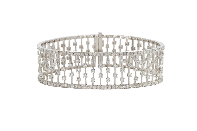 A highcarat diamond bracelet