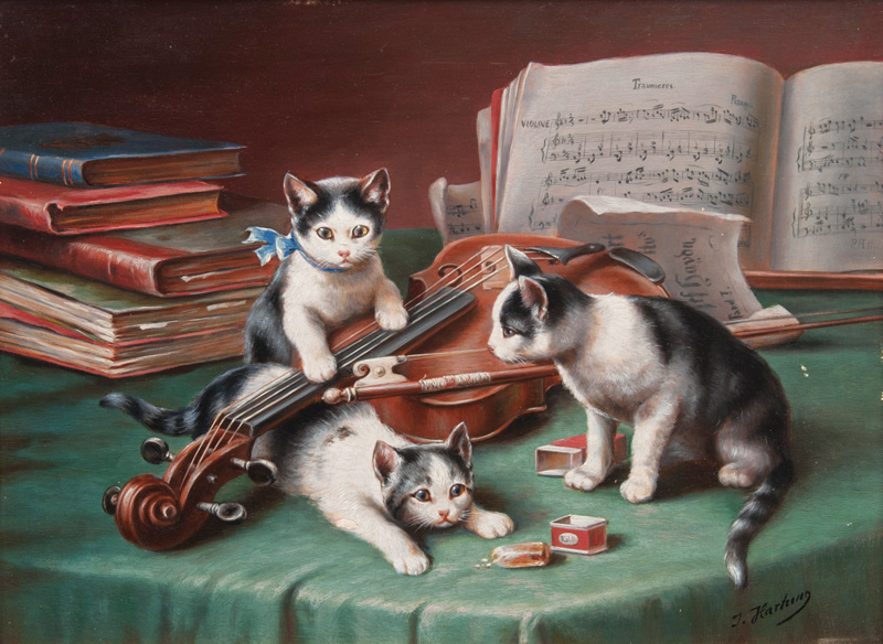 Kittens and Violin