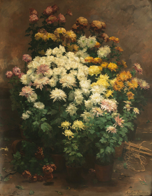 Large Still Life with Autumn Flowers