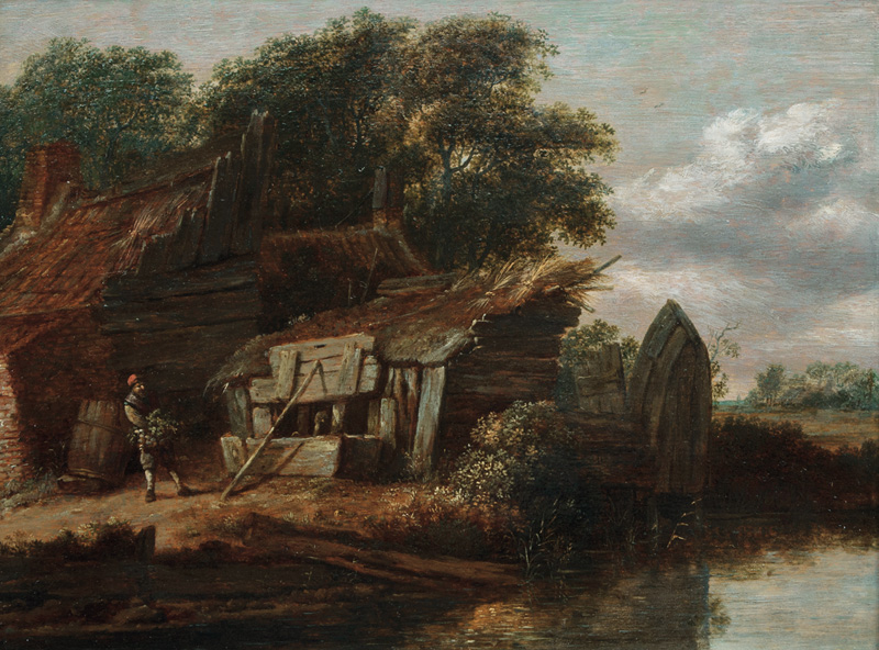 Landscape with Farmyard by the Water