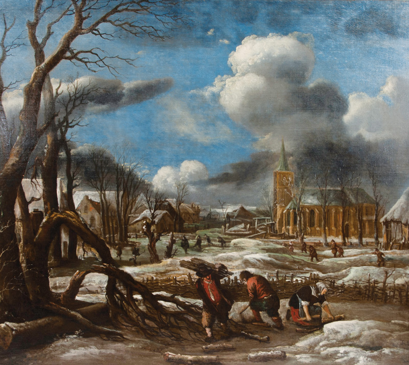 Winter Landscape with Wood Gatherers