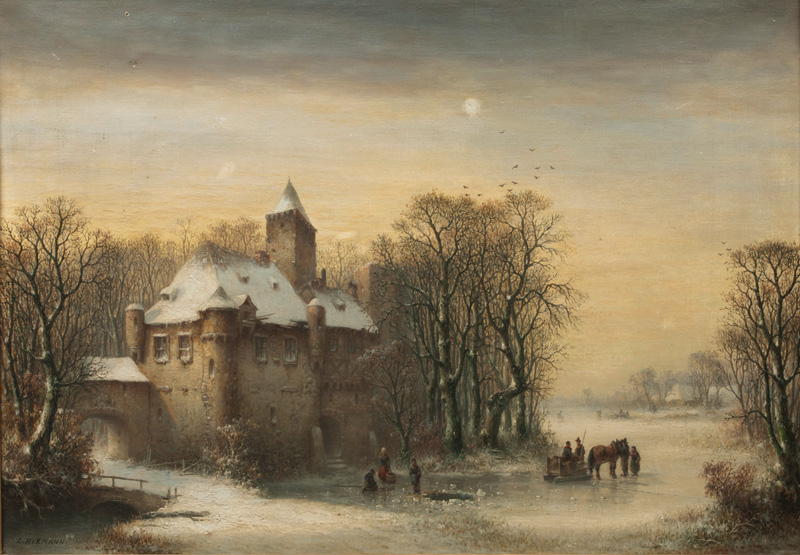 Old Castle in Pomerania in Winter