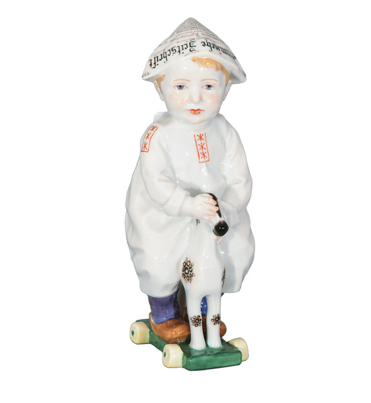 A figure 'Boy on his rocking horse'