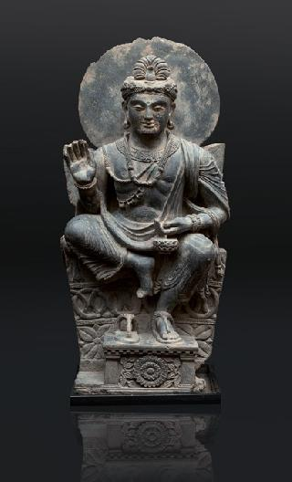 A very rare and impressive Gandhara figure 'Avalokiteshvara'