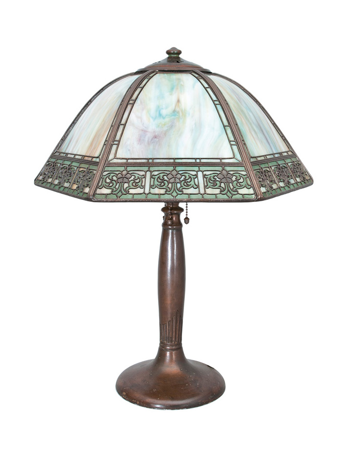 An Art Nouveau table lamp