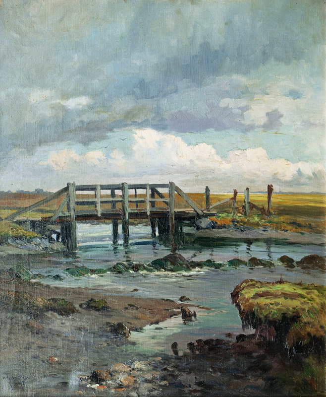 Old Footbridge in the Tideland of Sylt