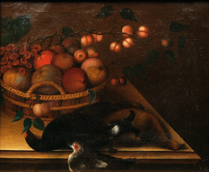 Table Still Life with Fruits and Black Grouse