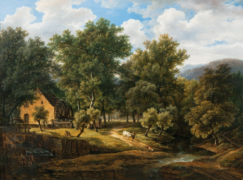 Idyllic Landscape with Watermill