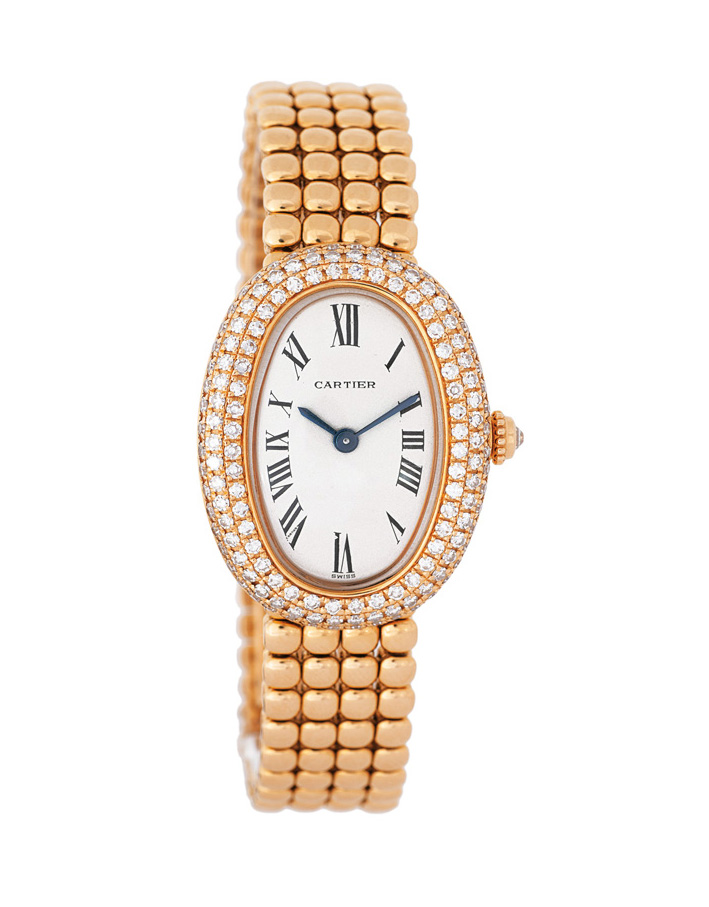 A ladie's watch with diamonds