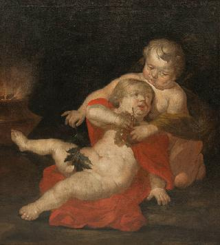 Two Putti as Allegory of Autumn