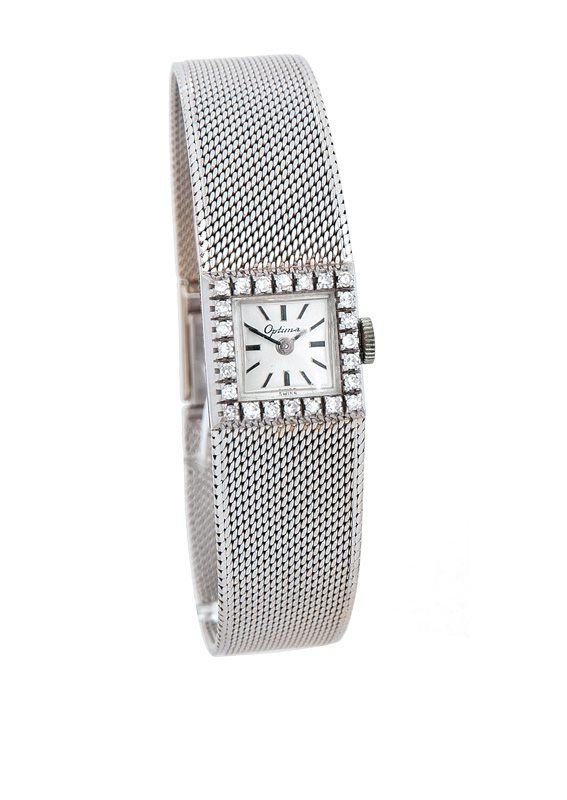 A lady's watch with diamonds by Optima
