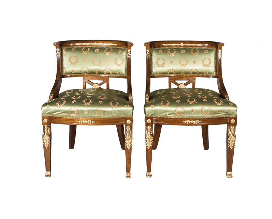 A pair of armchairs of Empire style