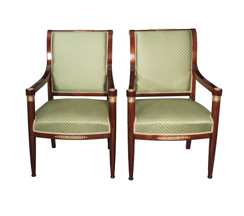 A pair of Napoleon III armchairs