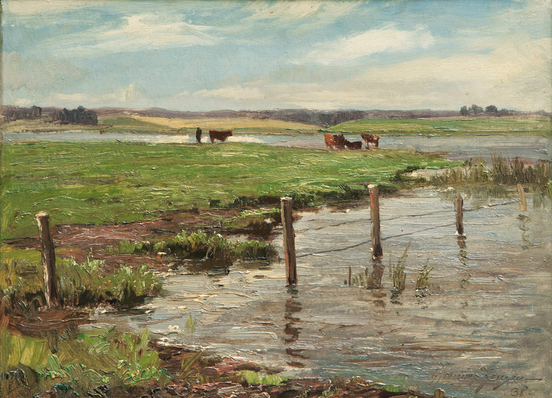 Cows by the Shore