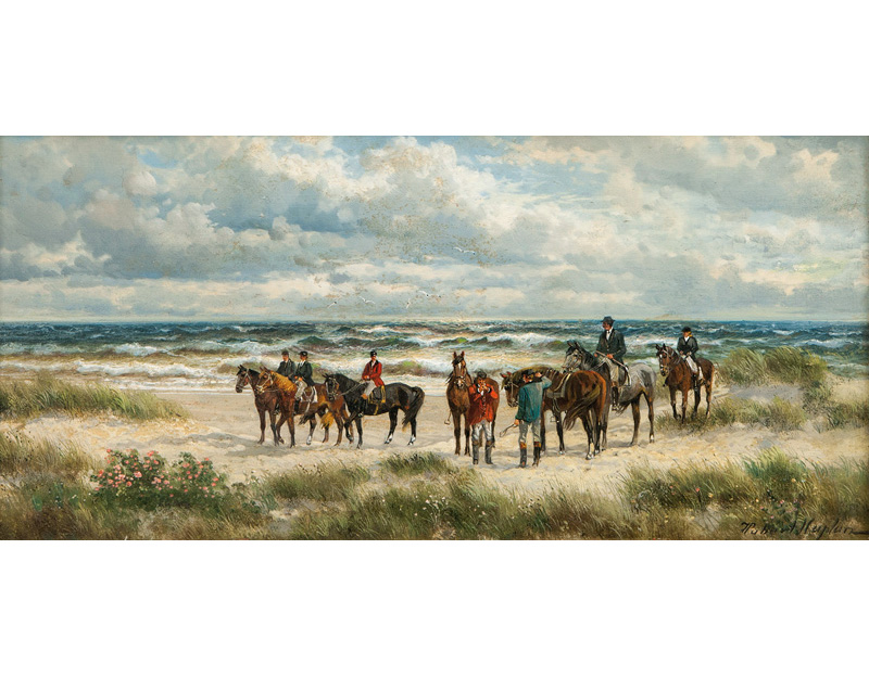 Horseriders on the Beach of Sylt