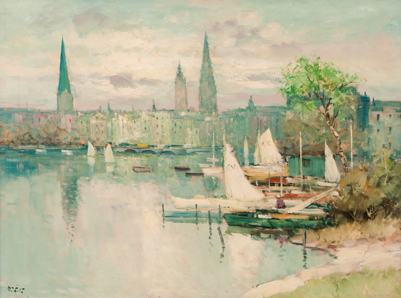 Boats on the Alster