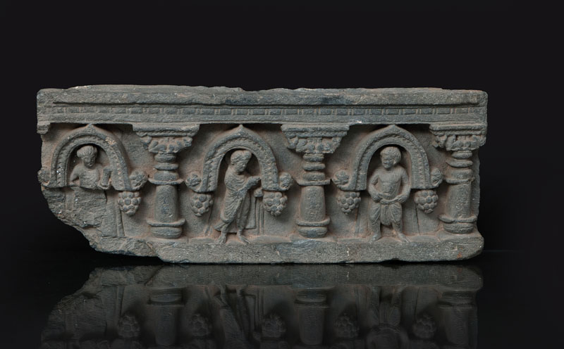 A relief with standing Bodhisattva