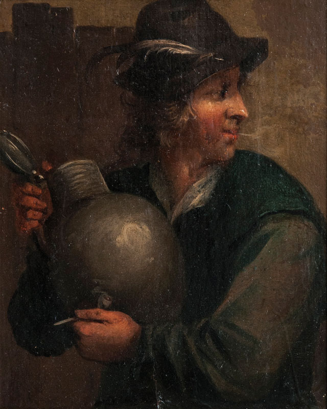 Peasant with Jar and Pipe