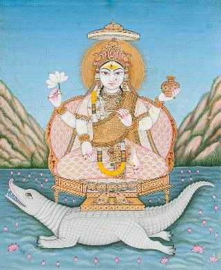 A miniature painting 'Ganga'