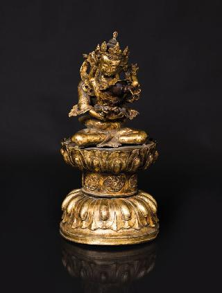 A tall bronze figure 'Vajradhara'