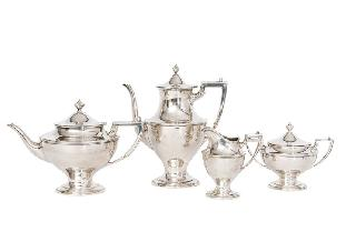 A coffee and tea service of Empire style