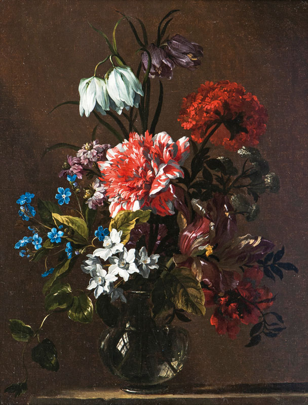 Opulent stilllife with flowers